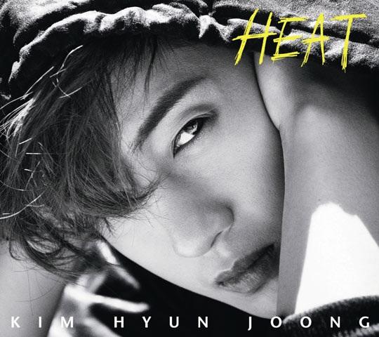 キム・ヒョンジュンの新しい日本シングルアルバム「HEAT」のジャケットイメージ(写真提供=キーイースト)。