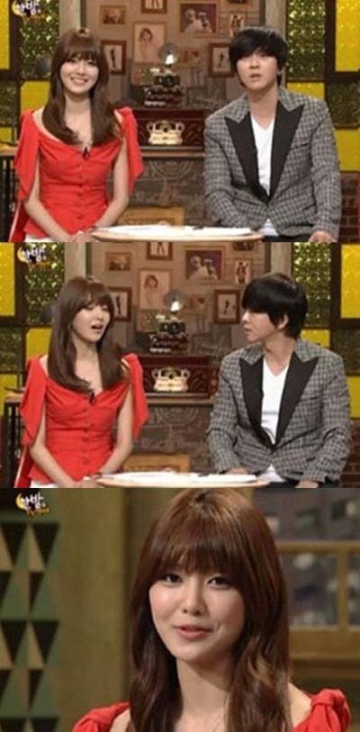 少女時代のスヨン(上段左)とユン・ドヒョン(上段右、写真=SBSキャプチャー)。