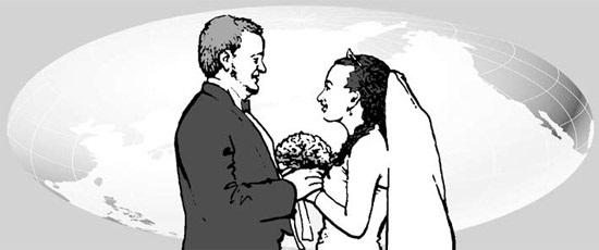 韓国社会で増える国際結婚カップル。