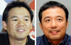 金正宙(キム・ジョンジュ)ネクソン創業者(左)、金沢辰(キム・テクジン)NC代表(右)