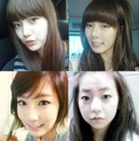 MissAのスジ・4minuteのヒョナ・WonderGirlsのソヒ・少女時代のテヨン(写真左上から)。