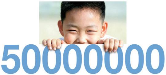 大韓民国の人口5000万人