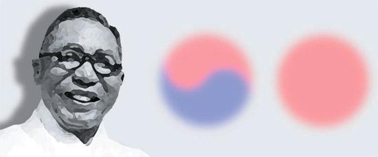 独立運動家の白凡金九(キム・グ)。