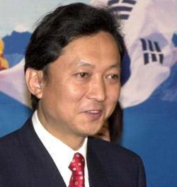 日本の鳩山由紀夫元首相。