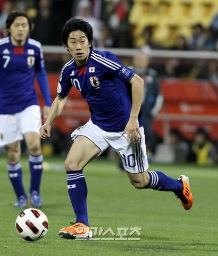 日本代表のMF香川真司(23)。