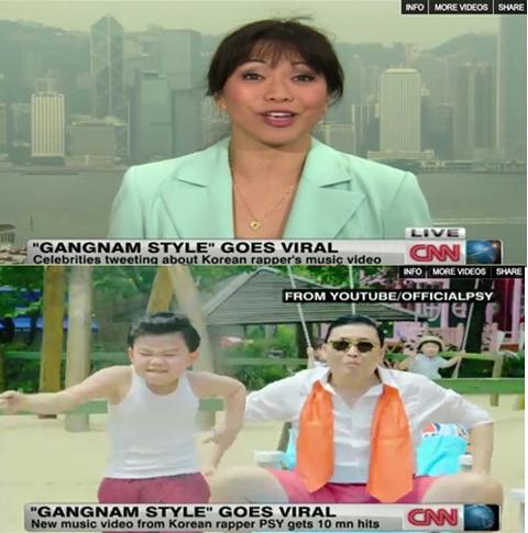 米CNNで紹介された歌手のPSY(サイ)の『江南(カンナム)スタイル』。