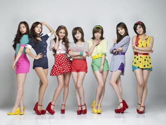 韓国の人気アイドルグループT-ARA(ティアラ)。