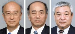 左側から別所浩郎氏、佐々江賢一郎氏、西宮伸一氏。