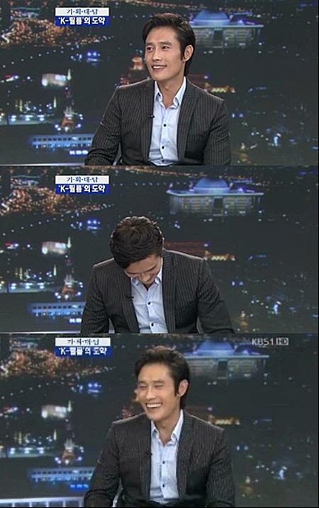 俳優のイ・ビョンホン(写真=KBSキャプチャー)。