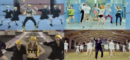 日本のCMとの類似性が指摘されたPSYの馬ダンス(写真=ポータルサイト掲示板)