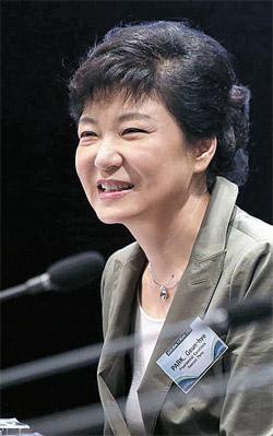 朴槿恵(パク・クネ)候補。