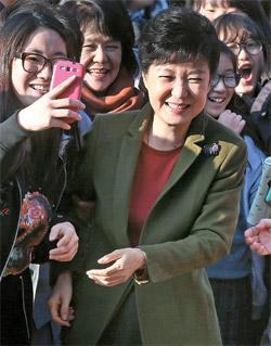 セヌリ党の朴槿恵(パク・クネ)候補