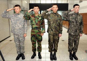 韓国の軍当局がコンピューターデジタルグラフィック模様の特許を出願した新型戦闘服。