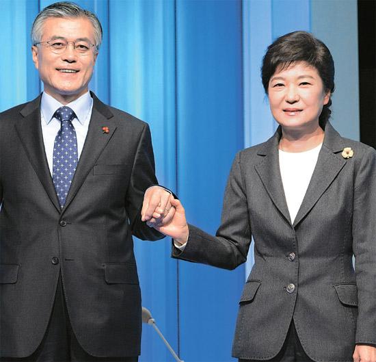 韓国大統領選>朴槿恵・文在寅・李正姫候補 テレビ討論で激しく攻防 ...