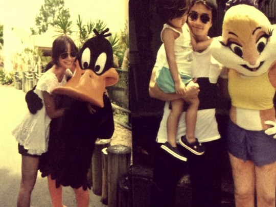 俳優クォン・サンウの家族旅行写真(写真=ソン・テヨンのフェイスブック)。