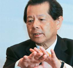 船橋洋一日本再建イニシアティブ理事長。