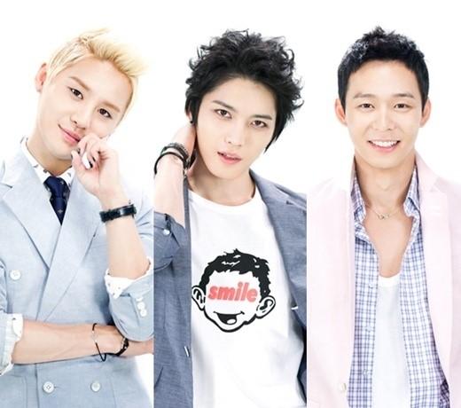 JYJのメンバー(キム・ジュンス、キム・ジェジュン、パク・ユチョン)。