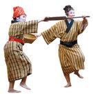 19世紀まで沖縄に存在した琉球王国の伝統踊り。 籠と櫓を使って沖縄漁民の生活像を見せている。