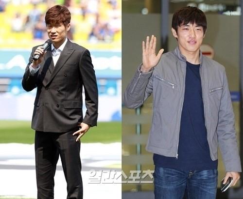 朴智星(パク・チソン、31、左)と尹錫栄(ユン・ソクヨン、23、以上QPR)。