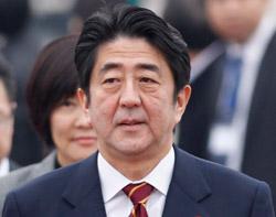 安部晋三首相。