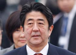 安倍晋三日本首相。