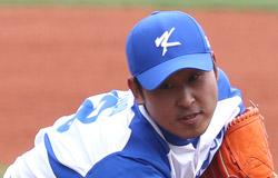 韓国代表のエース、尹錫ミン(ユン・ソクミン)。