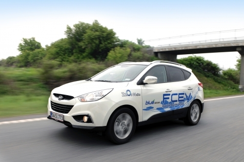 現代自動車「Tucson ix」水素燃料電池車(写真提供=現代自動車)。
