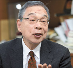 06年から10年まで駐中日本大使を務めた宮本雄二日中関係学会会長(67)
