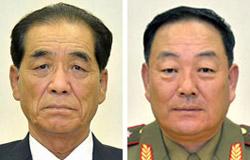 朴奉珠(パク・ボンジュ、左)、玄永哲(ヒョン・ヨンチョル、右)