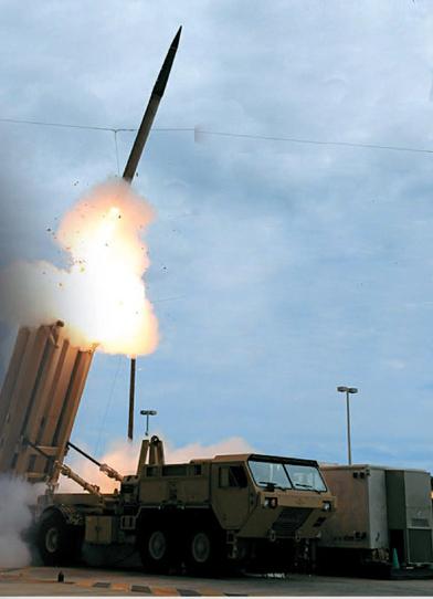 高高度防衛(THAAD)ミサイル。