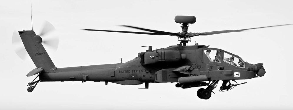 米ボーイング社のアパッチ・ガーディアン(AH-64E)。