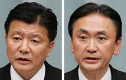 新藤義孝総務相(左)、古屋圭司国家公安委員長(右)