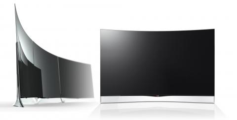 LG電子「曲面有機発光ダイオード(OLED)テレビ」。