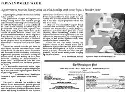 寄稿が掲載されたワシントンポスト5月1日付14面。