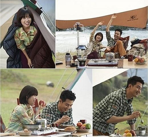 俳優チョ・インソンと女優ハン・ヒョジュの広告ビハインドカット(写真提供=ブラックヤク)。