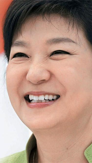 朴槿恵(パク・クネ)大統領。