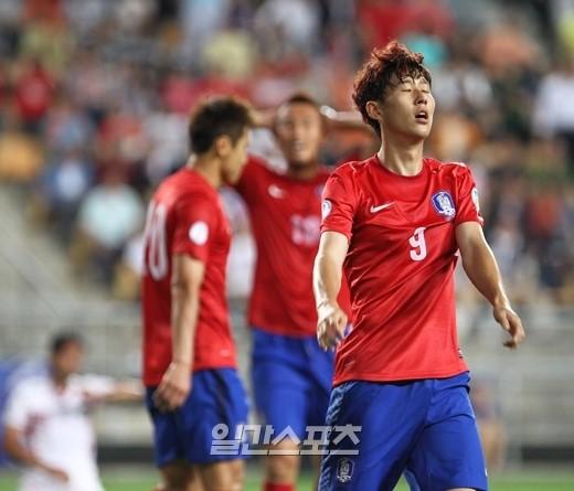 W杯サッカーの韓国代表チーム。