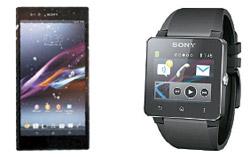 Xperia Z Ultraとスマートウォッチ2。