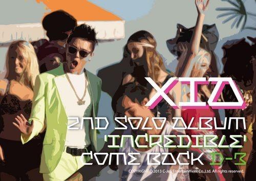 JYJキム・ジュンス(XIAジュンス)のセカンド・アルバム 『INCREDIBLE』。