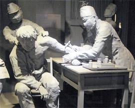 逆を行く安倍首相の日本…中国黒龍江省ハルビン市の日本軍731部隊跡には、日本軍が中国人や朝鮮人を相手に残酷な生体実験をしている姿が展示されている(写真=中央日報)。