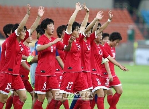 東アジアカップ2013女子の北朝鮮代表チーム。