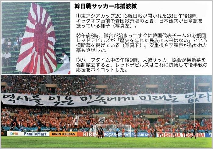 韓日戦サッカー応援波紋