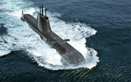 4日に公開された韓国海軍が1800トン規模の214級潜水艦「安重根(アン・ジュングン)」の航海写真。(写真=韓国海軍)