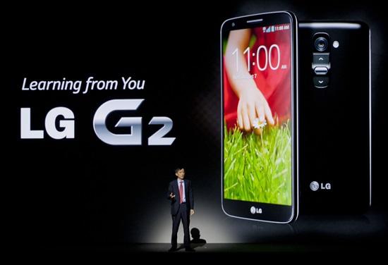 LG電子「G2」。
