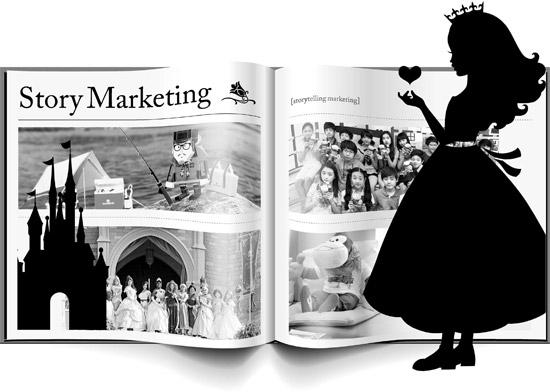 キャラクターマーケティングが進化している。アニメの主人公が「プリンセス戴冠式」をし、アウトドアブランドのキャラクターが釣り旅行に行ったり、デザートカフェのキャラクター人形がファッションブランドのモデルとして登場するなど、ストーリーの中に消費者を引き込んでいる。