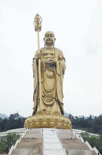 中国安徽省の九華山の地蔵菩薩像