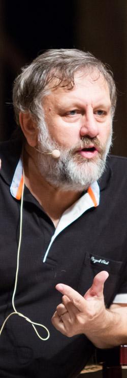 現代の代表的な批判的思想家に挙げられるスラヴォイ・ジジェク氏。シジェク氏は2005年、英国「ザ・プロスペクト」と米国「フォーリンポリシー」が選んだ100大知識人に名前を上げた。(写真=プラトンアカデミー)