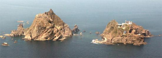 独島(ドクト、日本名・竹島)。