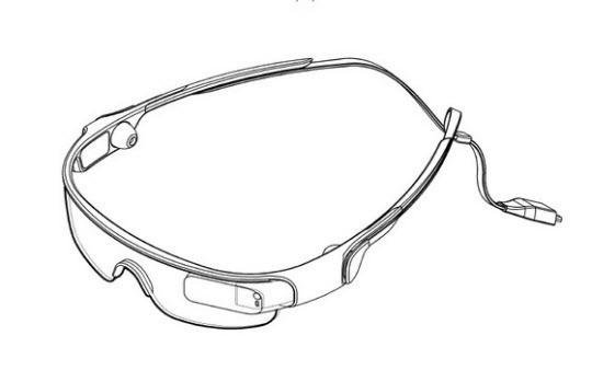 特許庁の検索サイトに登録されているサムスン電子の「スポーツ用めがね」の絵。