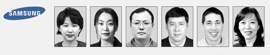左からヨン・ギョンヒ常務、チャン・セヨン常務、パク・ヒョンホ常務、ワントン副社長、グレッグデュディ常務、イ・インジェ専務。